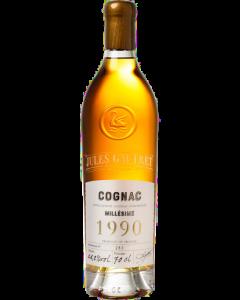 cognac-millesime-1990-bouteille-scellee-a-la-cire-produit-rare-numero-bouteille-numero-fut-jules-gautret