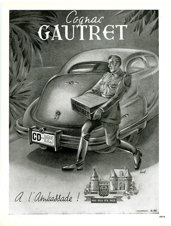 cognac-gautret-a-lambassade-affiche-ancienne